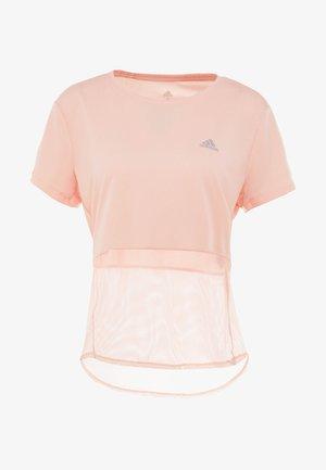 OWN THE RUN TEE - T-shirt imprimé - glow pink