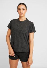 adidas Performance - ID WINN ATTEE - T-shirts med print - black - 2