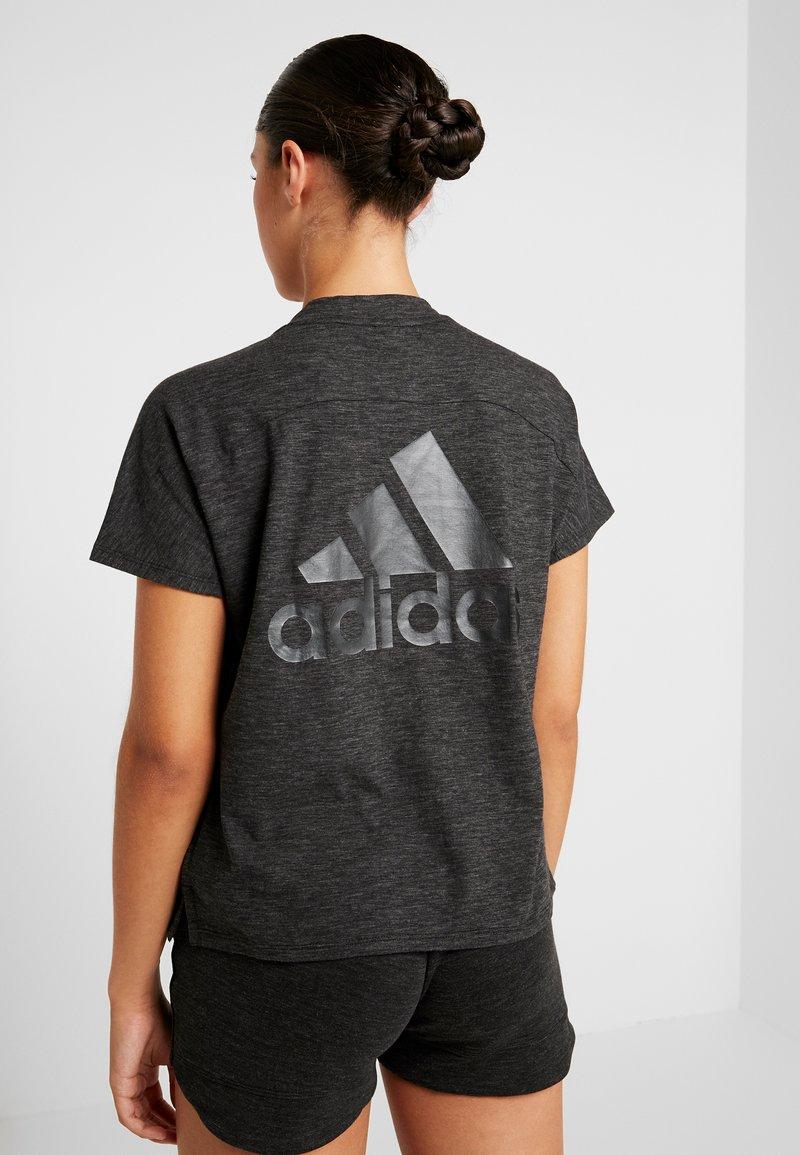 adidas Performance - ID WINN ATTEE - T-shirts med print - black