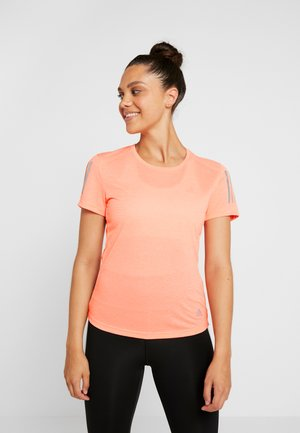 OWN THE RUN TEE - Print T-shirt - glow pink