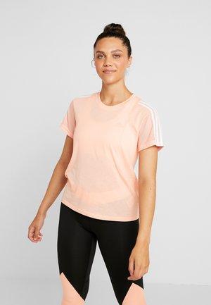T-shirt med print - glow pink
