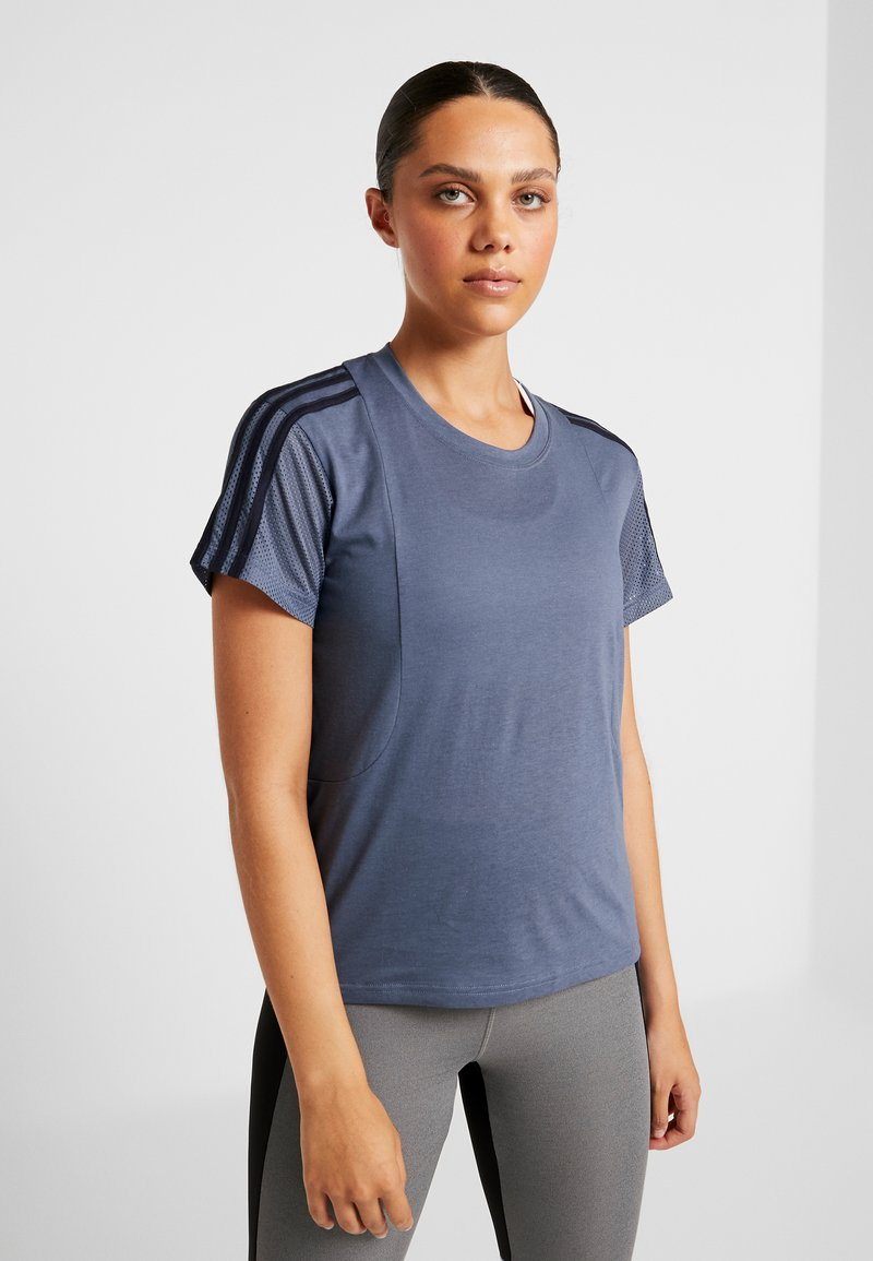 adidas Performance - T-shirt z nadrukiem - tech ink
