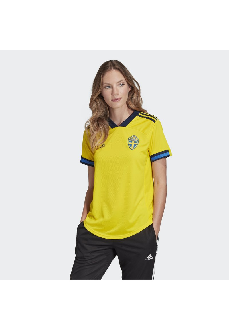 adidas Performance - SWEDEN SVFF HOME JERSEY - Voetbalshirt - Land - yellow