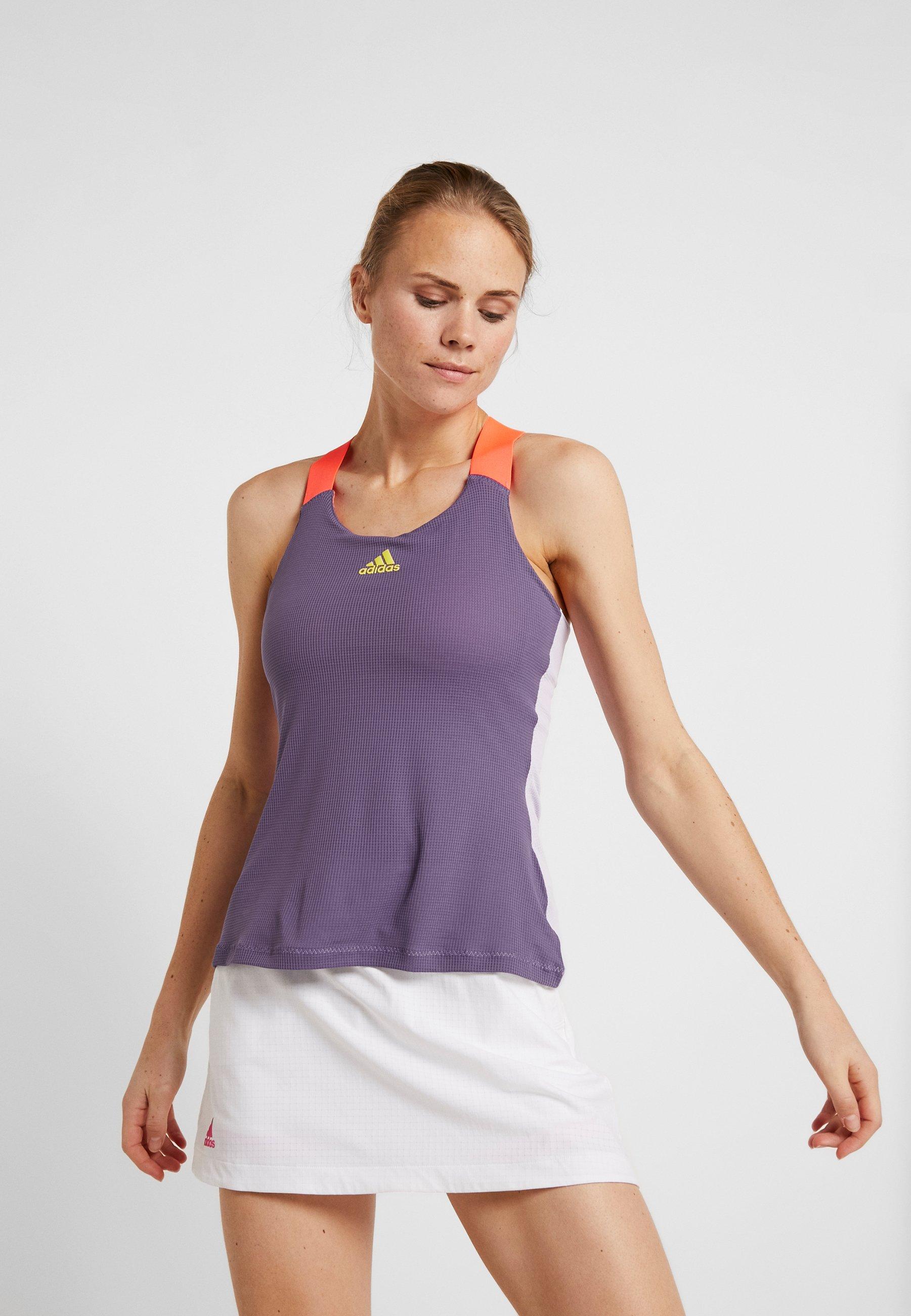 adidas Performance TANK - Treningsskjorter - purple
