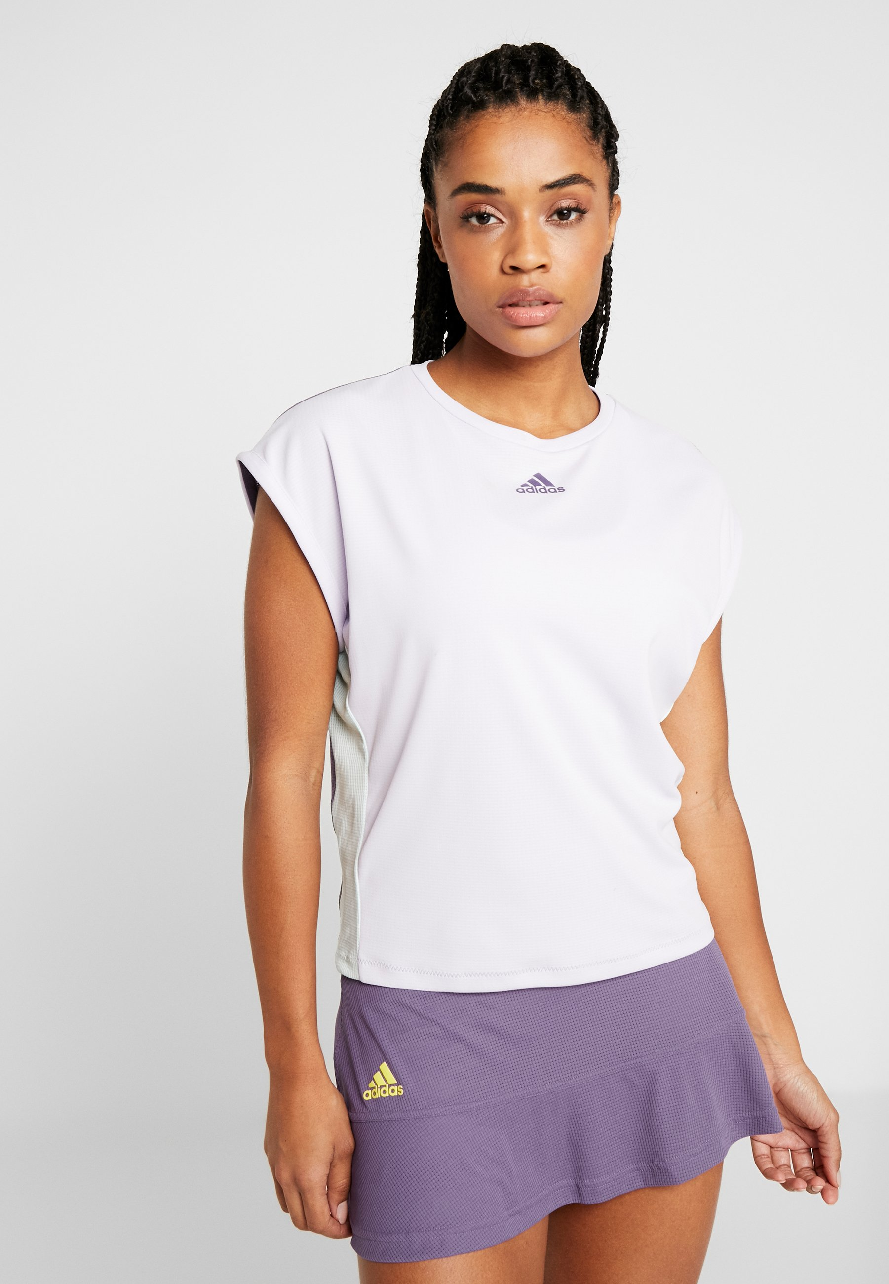 adidas Performance TEE HEAT.RDY - T-shirt z nadrukiem - purple