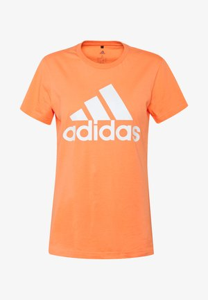 TEE - T-shirt med print - orange