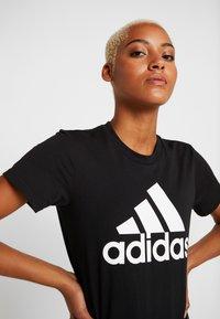 adidas Performance - TEE - T-shirt print - black - 4