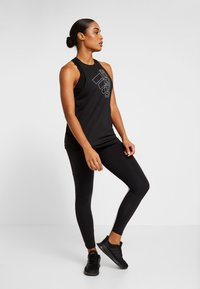 adidas Performance - TECH BOS TANK - Sports shirt - black/white - 1