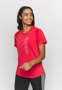 adidas Performance - Print T-shirt - red/white - 0