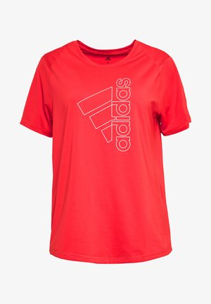 T-Shirt print - red/white