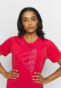 adidas Performance - Print T-shirt - red/white - 3