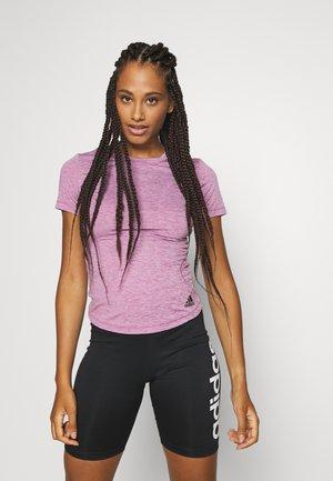 TEE - T-shirts med print - purple