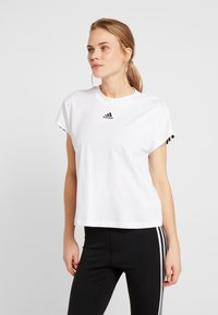 adidas Performance - TEE - Printtipaita - white/black - 0