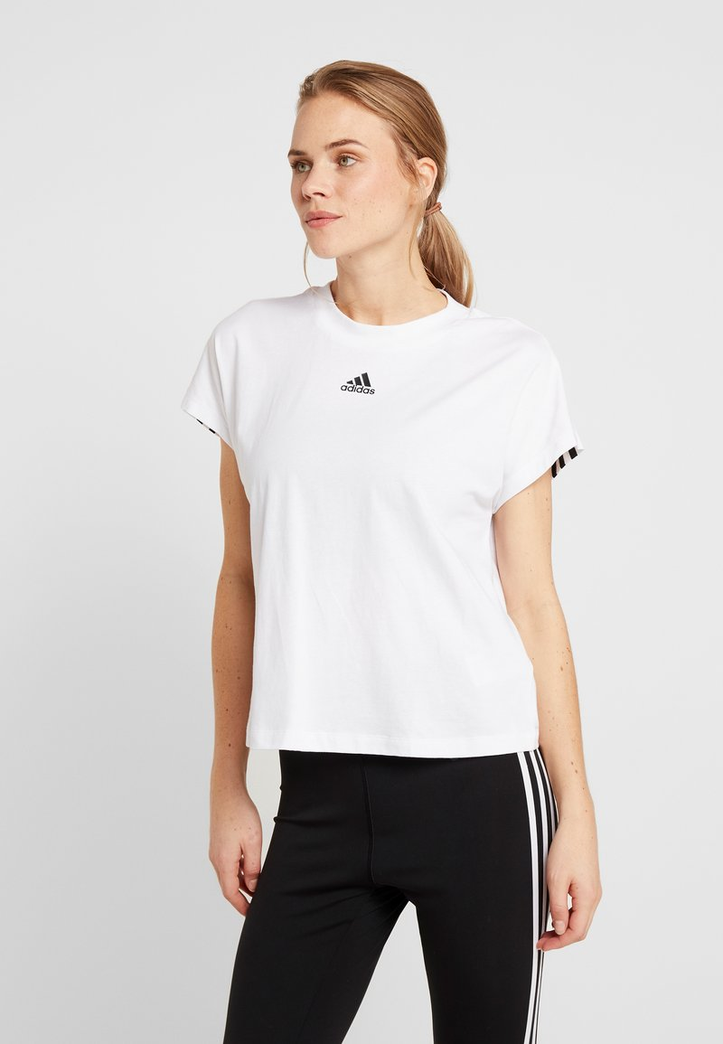 adidas Performance - TEE - Printtipaita - white/black