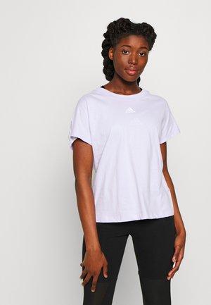 TEE - T-shirt z nadrukiem - purple/white