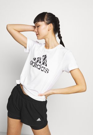 IKAT BOS TEE - T-shirts med print - white/black