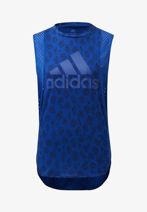 ID MUSCLE TANK TOP - Toppi - blue