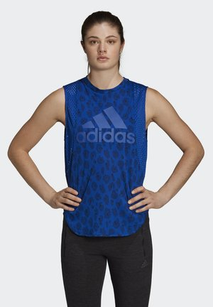 ID MUSCLE TANK TOP - Toppe - blue