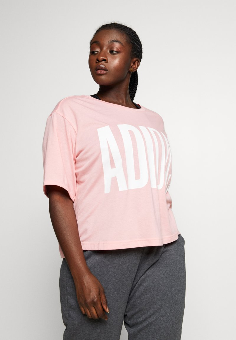 adidas Performance - TEE - T-shirts med print - glow pink