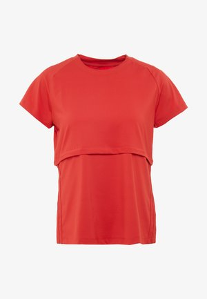 CAP TEE - T-shirts med print - glow red/white