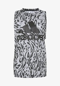 adidas Performance - TANK  - Top - grey/black - 3