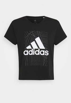 ADI VIBES TEE - T-shirts med print - black/gresix/white