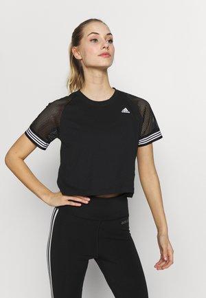 RINGER TEE - T-shirt print - black/white