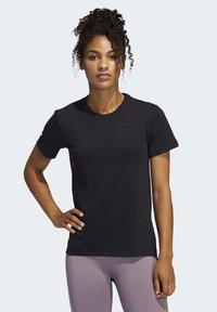 adidas Performance - GO-TO T-SHIRT - T-shirt z nadrukiem - black - 0
