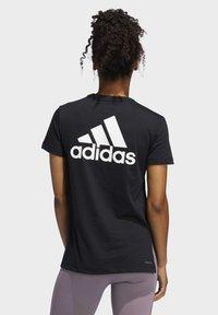 adidas Performance - GO-TO T-SHIRT - T-shirt z nadrukiem - black - 1