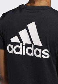 adidas Performance - GO-TO T-SHIRT - T-shirt z nadrukiem - black - 3