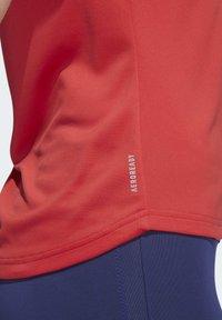 adidas Performance - OWN THE RUN T-SHIRT - Printtipaita - red - 6