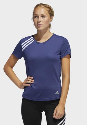 3-STRIPES RUN T-SHIRT - T-shirt print - tech indigo