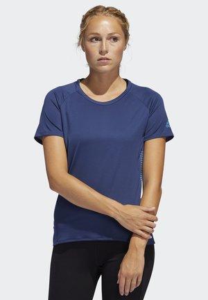 RISE UP N RUN PARLEY T-SHIRT - T-shirt z nadrukiem - tech indigo