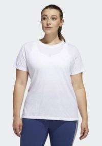 adidas Performance - GO TO T-SHIRT - Print T-shirt - white - 0