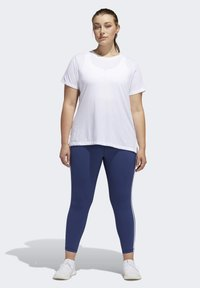 adidas Performance - GO TO T-SHIRT - Print T-shirt - white - 1