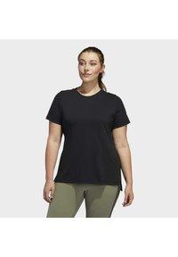 adidas Performance - GO TO T-SHIRT - T-shirts print - black - 0