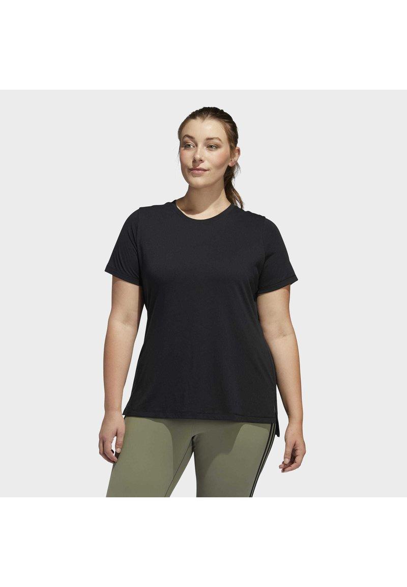 adidas Performance - GO TO T-SHIRT - T-shirts print - black