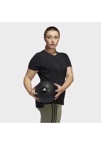 adidas Performance - GO TO T-SHIRT - T-shirts print - black - 4