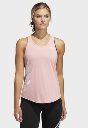 OWN THE RUN-STRIPES PB TANK TOP - Topper - glory pink