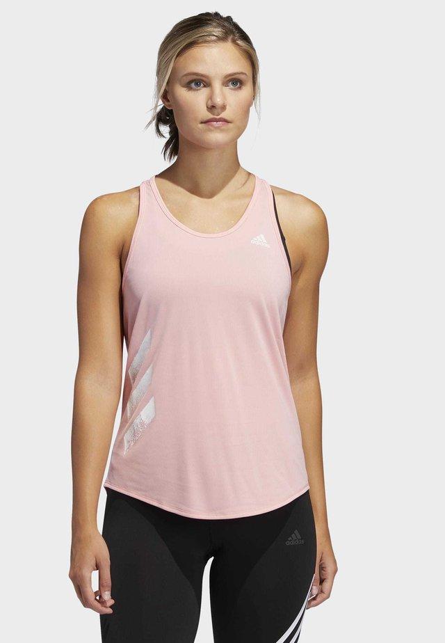OWN THE RUN-STRIPES PB TANK TOP - Top - glory pink