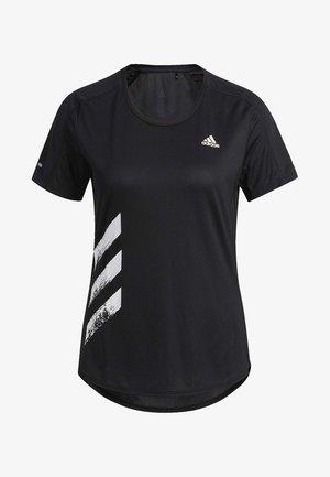 RUN IT -STRIPES FAST T-SHIRT - T-shirt print - black