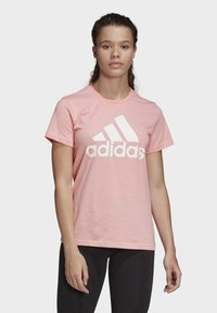 adidas Performance - MUST HAVES BADGE OF SPORT T-SHIRT - Print T-shirt - glory pink - 0