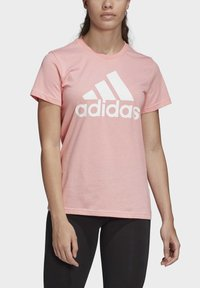 adidas Performance - MUST HAVES BADGE OF SPORT T-SHIRT - Print T-shirt - glory pink - 4