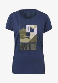 adidas Performance - TERREX ADVENTURE T-SHIRT - T-shirt imprimé - tech indigo