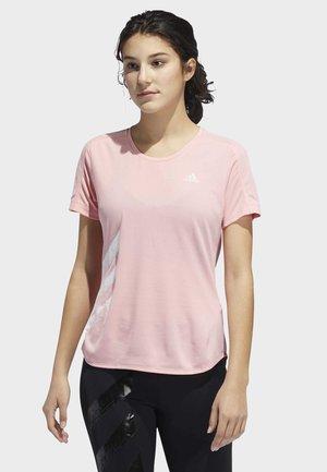 RUN IT 3-STRIPES FAST T-SHIRT - T-shirts med print - glory pink