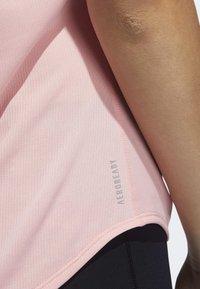 adidas Performance - RUN IT 3-STRIPES FAST T-SHIRT - Print T-shirt - glory pink - 6