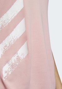 adidas Performance - RUN IT 3-STRIPES FAST T-SHIRT - Print T-shirt - glory pink - 5