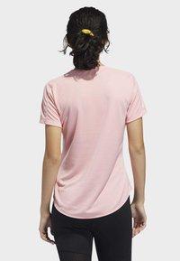 adidas Performance - RUN IT 3-STRIPES FAST T-SHIRT - Print T-shirt - glory pink - 1