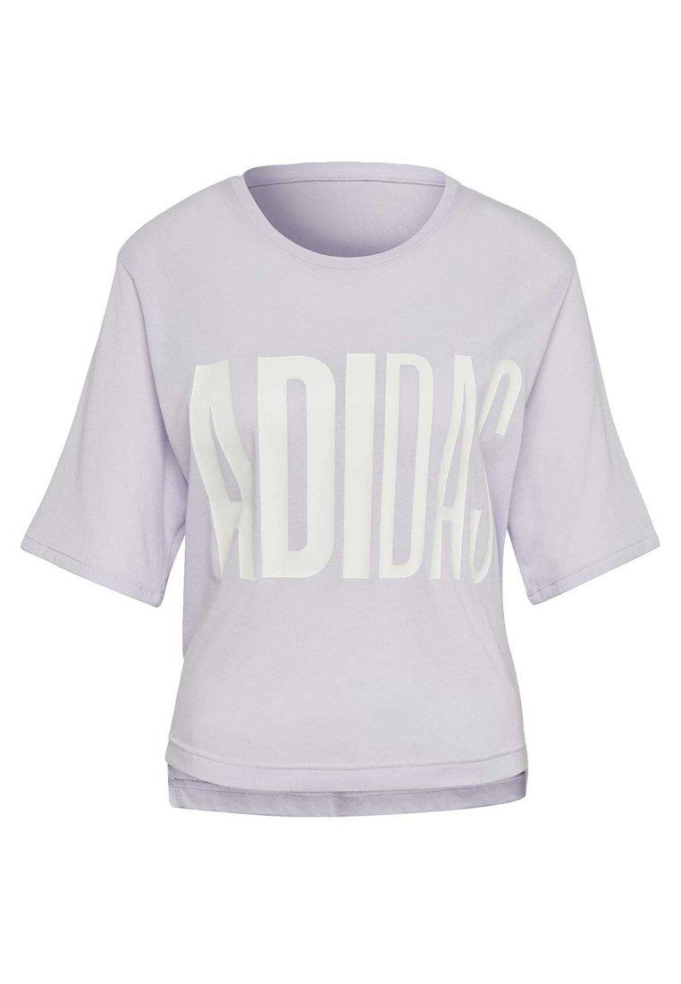 adidas Performance T-SHIRT - T-shirt z nadrukiem - purple tint