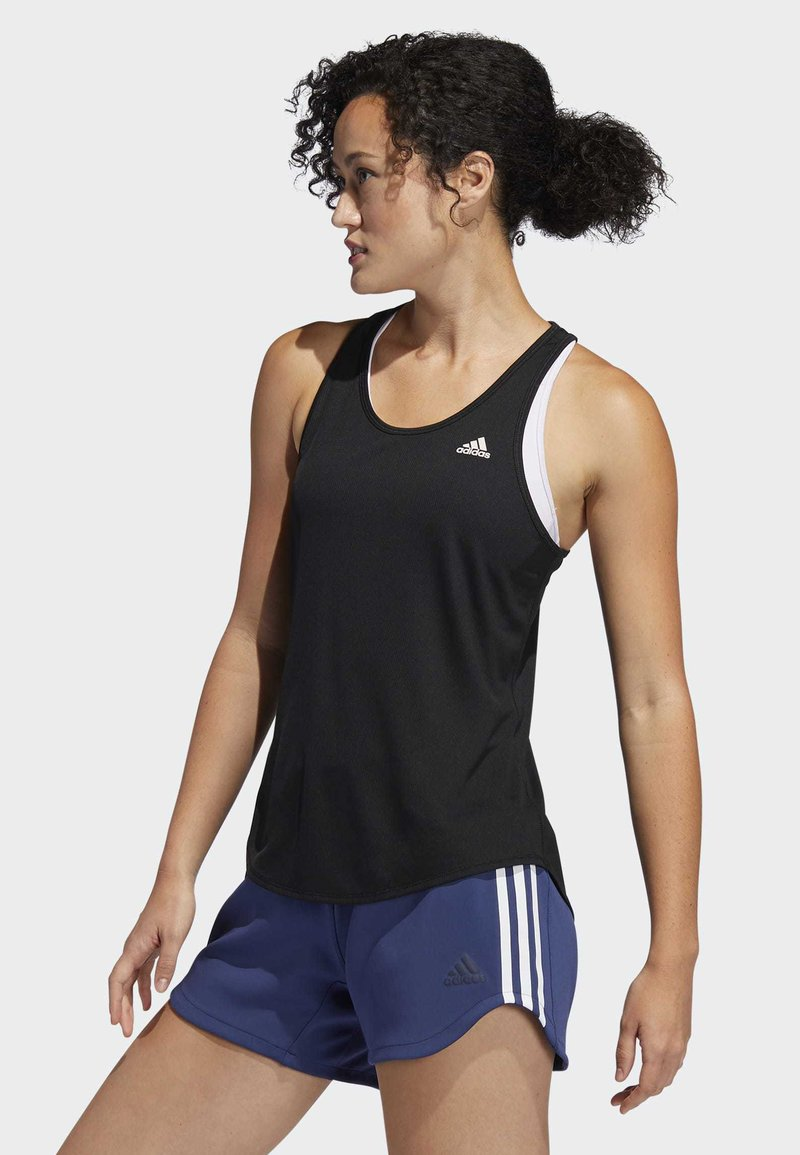 adidas Performance - OWN THE RUN 3-STRIPES PB TANK TOP - T-shirt sportiva - black